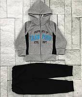 {есть:86/92,122/128 } Трикотажный костюм - двойка для мальчиков, . Артикул: BT1616-02-серый [86/92]