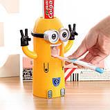 Яскравий Автоматичний дитячий дозатор зубної пасти Міньйон. Краща Ціна!, фото 5