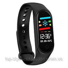 Фитнес-часы М4, смарт браслет smart watch, mi band 4, треккер, сенсорные фитнес часы