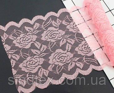 """Кружево эластичное 14,5см """"Амели"""", Персиково розовый цвет (сп7нг-4029)"""