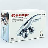 Массажёр лифтинг ручной для лица и тела 4D XC-119,роликовый массажер для тела и лица, фото 5