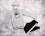 Laсoste Original мужской черный спортивный костюм с лампасами+капюшоном весна осень.Laсoste худи+штаны черные, фото 3