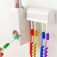 Дозатор автоматический зубной пасты Toothpaste Dispenser с держателем зубных щеток Toothbrush holder
