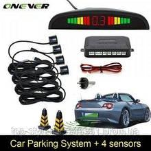 Парковочная система на 4 датчика парковки парктроник Assistant Parking Sensor Black