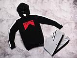 The North Face мужской серый спортивный костюм с капюшоном весна осень.The North Face кофта серая штаны черные, фото 2