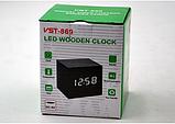 Настольные Стильные часы VST-869-6 с белой подсветкой, фото 3