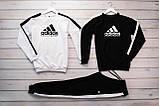 Adidas Equipment мужской черный спортивный костюм весна осень.AdidasEquipment Свитшот 2шт белый черный + штаны, фото 2