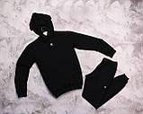 Adidas мужской черный спортивный костюм весна осень.Adidas Худи черный + штаны черные комплект, фото 2