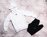 Adidas мужской черный спортивный костюм весна осень.Adidas Худи черный + штаны черные комплект, фото 3