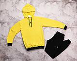 Adidas мужской черный спортивный костюм с капюшоном весна осень.Adidas Худи черный + штаны черные комплект, фото 5