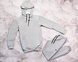 Adidas мужской черный спортивный костюм с капюшоном весна осень.Adidas Худи черный + штаны черные комплект, фото 7