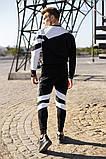 .Adidas с рефлективом мужской черный спортивный костюм весна осень.Adidas рефлектив Свитшот черный + штаны, фото 4