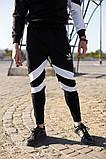 .Adidas с рефлективом мужской черный спортивный костюм весна осень.Adidas рефлектив Свитшот черный + штаны, фото 5