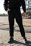 Adidas Мужской черный спортивный костюм с капюшоном весна осень.Adidas Худи черный +Adidas штаны черные, фото 4