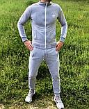 Adidas Мужской черный спортивный костюм весна лето на манжетах |Adidas Кофта черная штаны Adidas черные, фото 5