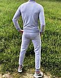 Adidas Мужской серый спортивный костюм весна лето без капюшона  Adidas Олимпийка серая штаны Adidas серые, фото 3