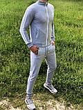 Adidas Мужской серый спортивный костюм весна лето без капюшона  Adidas Олимпийка серая штаны Adidas серые, фото 4