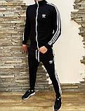 Adidas Мужской серый спортивный костюм весна лето без капюшона  Adidas Олимпийка серая штаны Adidas серые, фото 6