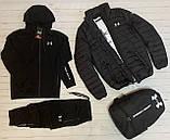 .Under Armour мужской красный спортивный костюм+Куртка весна.Under Armour Костюм Футболка Куртка Рюкзак Кепка, фото 3
