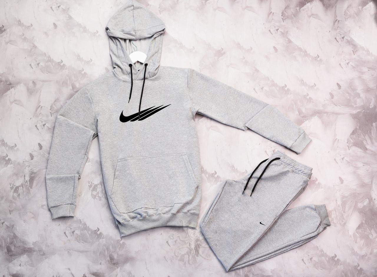 Nike мужской серый спортивный костюм с капюшоном весна осень.Nike  худи серое +штаны серые