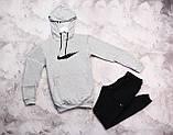 Nike мужской серый спортивный костюм с капюшоном весна осень.Nike  худи серое +штаны серые, фото 2
