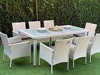 Комплект мебели из техноротанга ENDO 8+1 белый