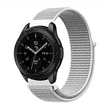 Ремешок BeWatch нейлоновый липучка для Samsung Galaxy Watch 42 мм Белый 1011311, КОД: 1237458