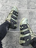 Мужские кроссовки в стиле Nike Air More Uptempo (khaki/black), Реплика ААА, фото 4
