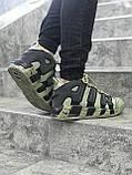 Мужские кроссовки в стиле Nike Air More Uptempo (khaki/black), Реплика ААА, фото 3