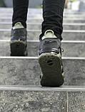 Мужские кроссовки в стиле Nike Air More Uptempo (khaki/black), Реплика ААА, фото 5