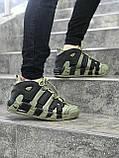 Мужские кроссовки в стиле Nike Air More Uptempo (khaki/black), Реплика ААА, фото 2