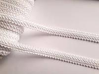 Тесьма декоративная шубная шанель, Тасьма шубна косичка 1,3 см, біла Ціна за 1 метр