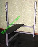 Лавка для жиму, горизонтальна (Проф серія, для залу), фото 2
