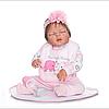 Силіконова лялька реборн Alysi сплюшка 48см. (DRTGB)