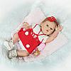 Лялька Реборн Reborn Дівчинка Аріна Вінілова Лялька Висота 48 См. (14958)