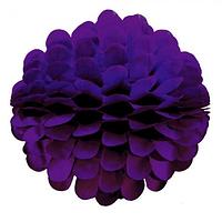 Бумажный шар цветок 20см фиолетовый 0021, фото 1