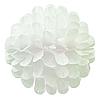 Бумажный шар цветок 30см белый 0018