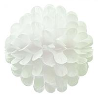 Бумажный шар цветок 30см белый 0018, фото 1
