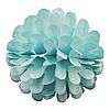 Бумажный шар цветок 30см голубой 0001
