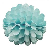 Бумажный шар цветок 30см голубой 0001, фото 1