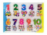 Деревянная игрушка рамка-вкладыш для самых маленьких MD0646-5 ( 0646-550)