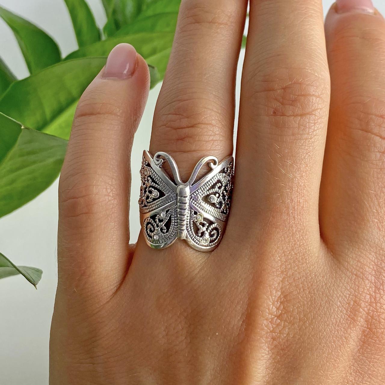 Кольцо из серебра  Бабочка  6667