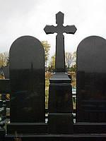 Крест на двойной могиле