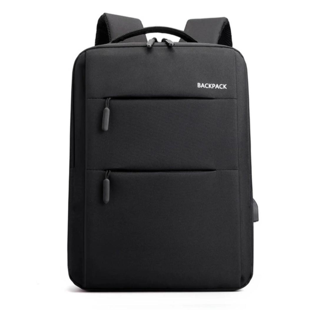 Водонепроницаемый деловой рюкзак  в стиле Xiaomi для ноутбука с зарядкой через USB  Чёрный + Подарок