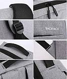 Водонепроницаемый деловой рюкзак  в стиле Xiaomi для ноутбука с зарядкой через USB  Чёрный + Подарок, фото 7