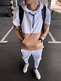 Мужской спортивный костюм белый (пудра), фото 3