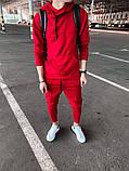 Мужской спортивный костюм красный, фото 3