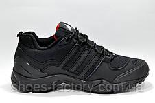 Термо кроссовки в стиле Adidas Terrex Swift, Черные, фото 3