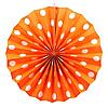 Віяловий коло картон 30см помаранчевий 0011