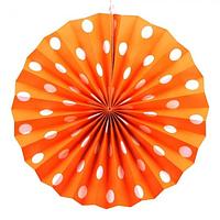 Віяловий коло картон 30см помаранчевий 0011, фото 1